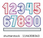 set of vector bold numbers made ...   Shutterstock .eps vector #1146308363