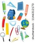 school supplies set   Shutterstock .eps vector #1146312173