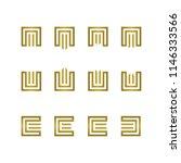 luxury m  e  w letter logo.... | Shutterstock .eps vector #1146333566