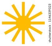 sun icon with beams  as vector... | Shutterstock .eps vector #1146339323