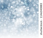 winter card with snowflakes.... | Shutterstock .eps vector #1146340883