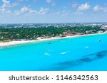 cancun aerial view of the... | Shutterstock . vector #1146342563