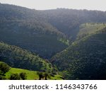green hills and valleys in the... | Shutterstock . vector #1146343766