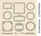 vintage ornaments and dividers. ... | Shutterstock .eps vector #1146344606