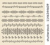 vintage ornaments and dividers. ... | Shutterstock .eps vector #1146344609