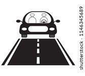 vector icon of luxury car run... | Shutterstock .eps vector #1146345689
