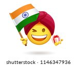 winking smiley for indian... | Shutterstock .eps vector #1146347936