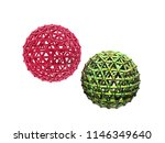 colorful wire balls of... | Shutterstock . vector #1146349640