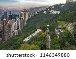 the peak tram approaching... | Shutterstock . vector #1146349880