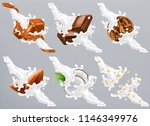 chocolate  caramel  coconut ... | Shutterstock .eps vector #1146349976