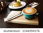 time to relax with a coffee ... | Shutterstock . vector #1146354176
