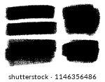 vector set of hand drawn brush... | Shutterstock .eps vector #1146356486