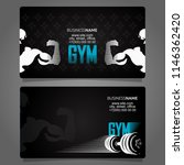fitness and gym business card... | Shutterstock .eps vector #1146362420