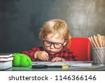 back to school. pupil drawing... | Shutterstock . vector #1146366146