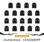 spooky  funny black and white... | Shutterstock .eps vector #1146368099
