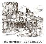 historical architecture with... | Shutterstock .eps vector #1146381800