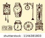 vintage classic pocket watch ... | Shutterstock .eps vector #1146381803
