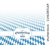 oktoberfest background with... | Shutterstock .eps vector #1146385169