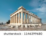 parthenon on acropolis  athens  ... | Shutterstock . vector #1146399680