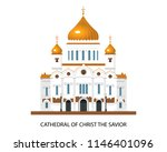 cathedral of christ the savior... | Shutterstock .eps vector #1146401096