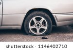 Flat Tire On An Abandoned...