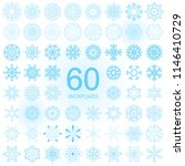 set of snowflake blue icon... | Shutterstock .eps vector #1146410729
