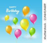 happy birthday greeting card... | Shutterstock . vector #1146414689