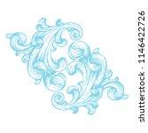 vintage baroque frame scroll...   Shutterstock .eps vector #1146422726