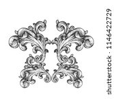 vintage baroque frame scroll...   Shutterstock .eps vector #1146422729
