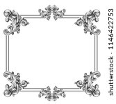 vintage baroque frame scroll...   Shutterstock .eps vector #1146422753