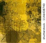 contemporary art. hand made art.... | Shutterstock . vector #1146438740