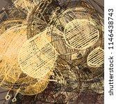contemporary art. hand made art.... | Shutterstock . vector #1146438743