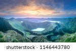 mountain landscape with hiking... | Shutterstock . vector #1146443780