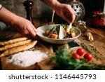 mongolian ethno food | Shutterstock . vector #1146445793