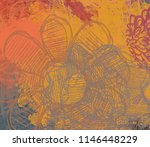 contemporary art. hand made art.... | Shutterstock . vector #1146448229
