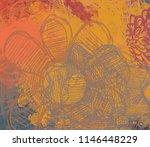 contemporary art. hand made art.... | Shutterstock . vector #1146448229