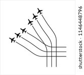 airplane flying formation  air... | Shutterstock .eps vector #1146448796