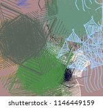 contemporary art. hand made art.... | Shutterstock . vector #1146449159