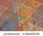 contemporary art. hand made art.... | Shutterstock . vector #1146449336
