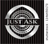 just ask silvery shiny badge   Shutterstock .eps vector #1146450173