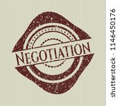 red negotiation rubber seal... | Shutterstock .eps vector #1146450176