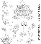 vector elements of baroque... | Shutterstock .eps vector #1146455333