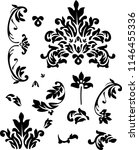 vector elements of baroque... | Shutterstock .eps vector #1146455336