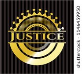 justice gold emblem | Shutterstock .eps vector #1146459950
