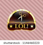 gold emblem or badge with... | Shutterstock .eps vector #1146460223