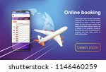 booking online flights travel.... | Shutterstock .eps vector #1146460259