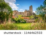medieval gothic ruins of castle ... | Shutterstock . vector #1146462533