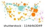 gouache paint stains grunge... | Shutterstock .eps vector #1146463049