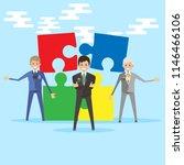 teamwork business people... | Shutterstock .eps vector #1146466106