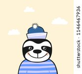 cute animal. character. vector. | Shutterstock .eps vector #1146467936